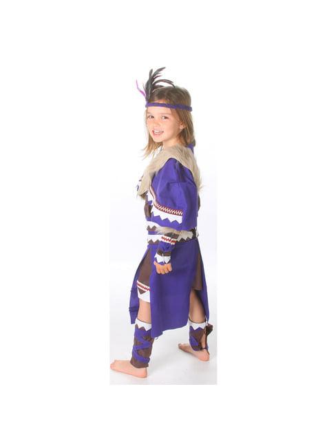 Disfraz de india guerrera para niña - original