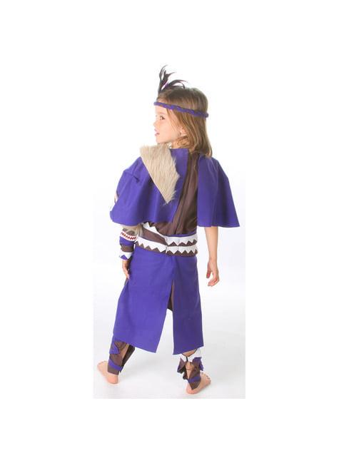 Disfraz de india guerrera para niña - traje