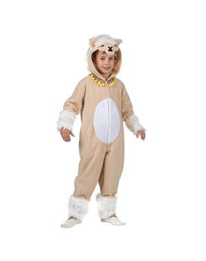 Lama kostuum voor kinderen