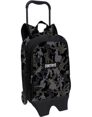 Fortnite backpack with wheels in black