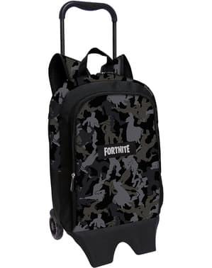 Fortnite backpack with wheels in black