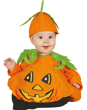 Orange pumpkin costume for babies