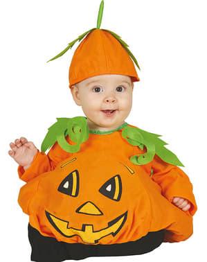 Оранжев костюм от тиква за бебета