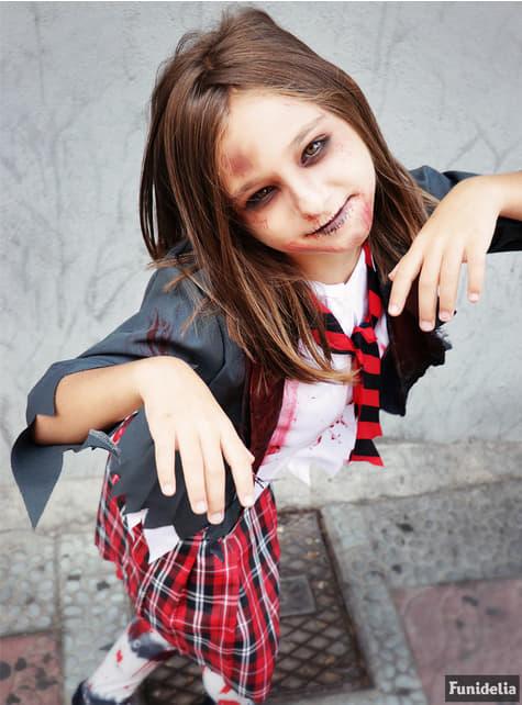 Disfraz de estudiante zombie para niña - niña