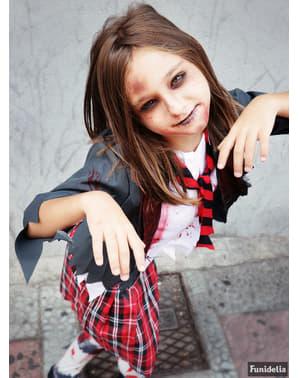 Детски костюм на зомби ученичка