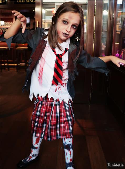 Disfraz de estudiante zombie para niña - original