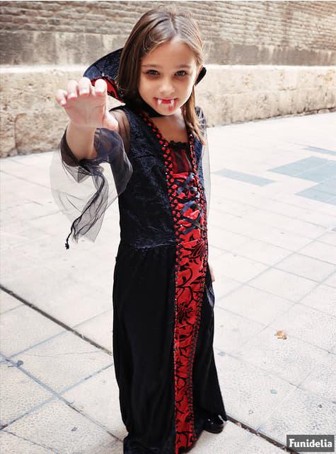 Disfraz de vampira gótica para niña - niña