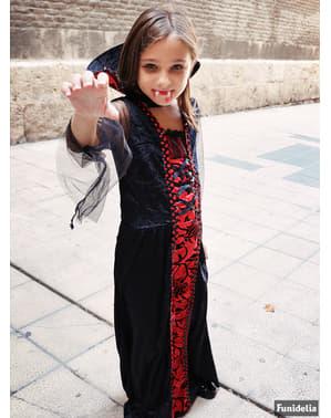 Fato de vampira gótica para menina