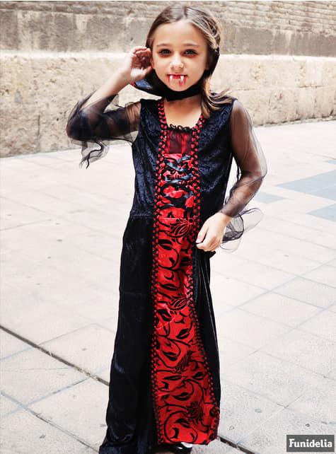 Disfraz de vampira gótica para niña - original
