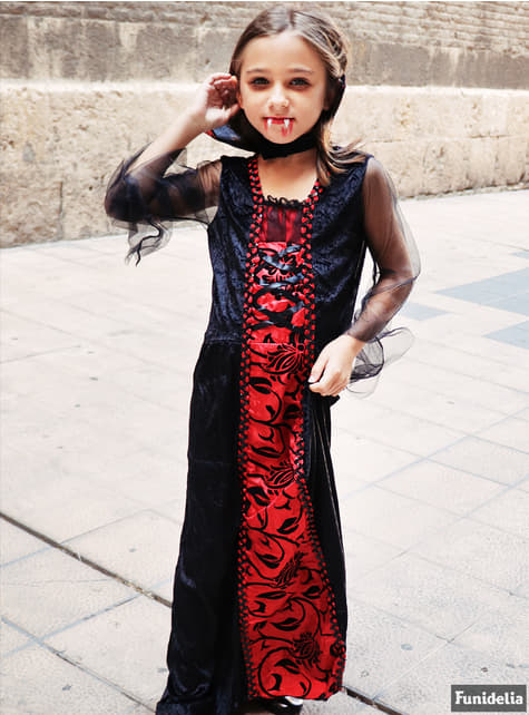 Girls Gothic Vampiress Costume