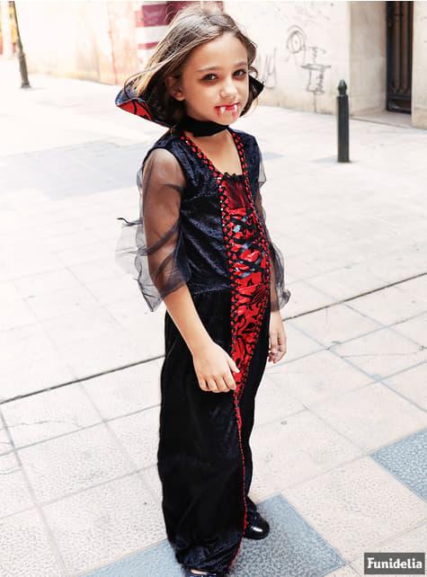 Disfraz de vampira gótica para niña - traje
