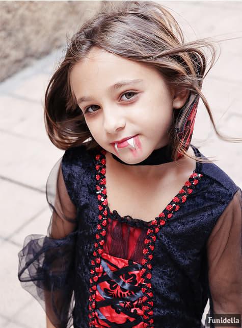 Disfraz de vampira gótica para niña - Carnaval