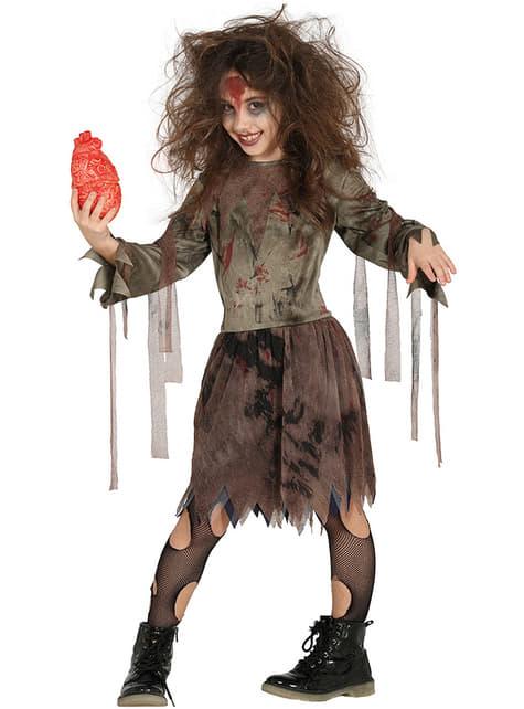 Disfraz de zombie come tripas para niña