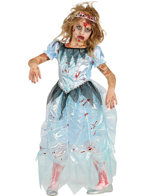 Zombie princess of midnight costume for children