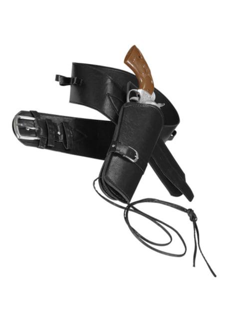 Mens Black Pistol Holster Belt