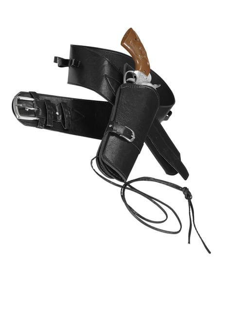 Cinturón con funda para pistola negro para hombre - para tu disfraz