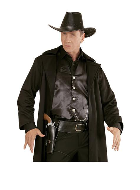 Cinto com bainha para pistola preto para homem