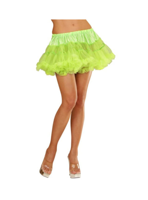 Tutú verde neón mujer