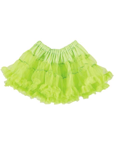 Tutú verde neón mujer - para tu disfraz