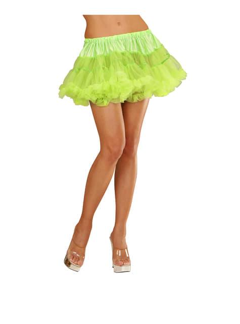 Tutú verde neón mujer - original