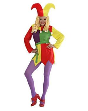 Disfraz de bufón para mujer