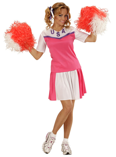 Amerikaanse cheerleader kostuum voor vrouwen