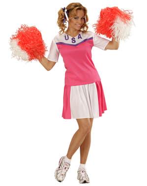 Amerikaanse cheerleader kostuum voor vrouw