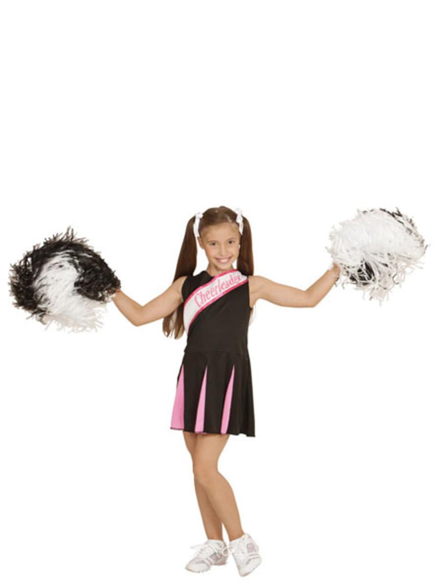 cheerleader kost m schwarz rosa f r m dchen. Black Bedroom Furniture Sets. Home Design Ideas