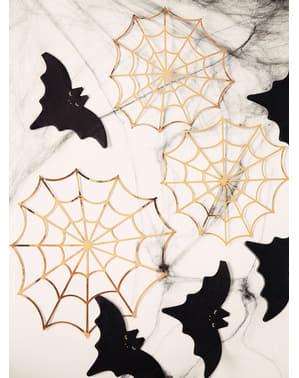 Toile d'araignée en papier doré