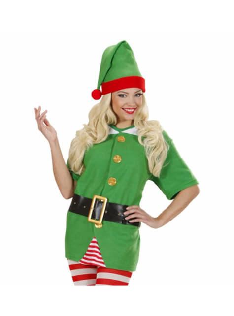 Fato de elfo ajudante de Pai Natal para mulher