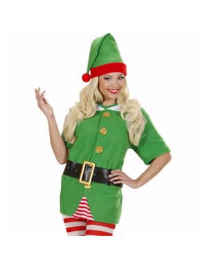 Costum de Spiriduş ajutorul lui Moș Crăciun pentru femeie