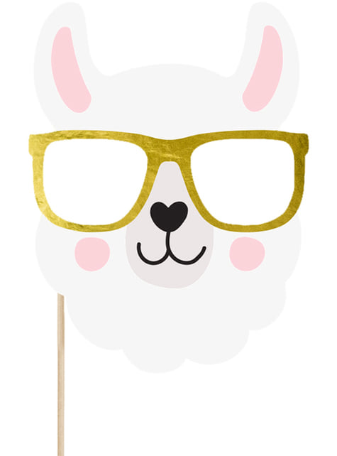 5 Photo Booth Props - Llama Party - for parties