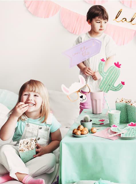 5 accessori per photocall - Lama Party - per bambini e adulti