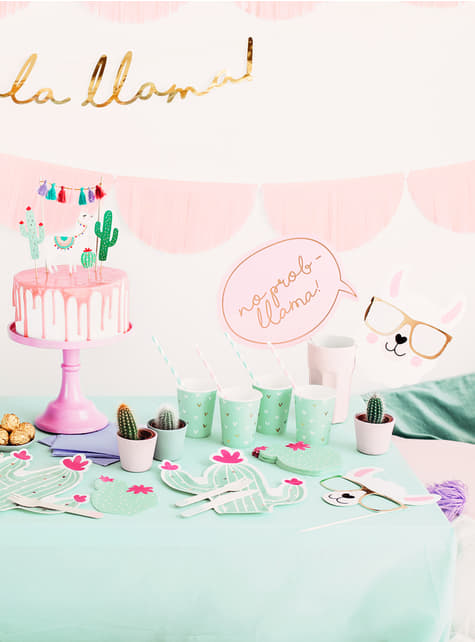 5 Photo Booth Props - Llama Party - funny