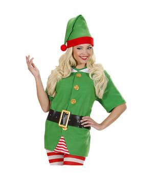 Disfraz de elfo ayudante de Papá Noel para mujer