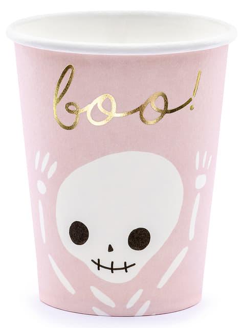 6 gobelets noirs et roses - Boo! - acheter