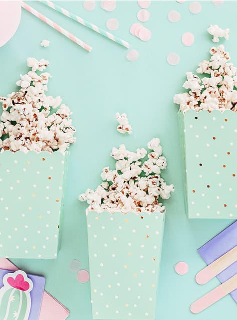 6 Popcorn Schachteln mit Kaktus - Lama Party - günstig