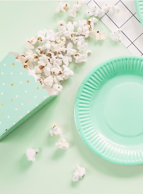 6 Popcorn Schachteln mit Kaktus - Lama Party - für deine Party Dekoration