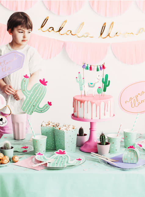 10 Cactus Favor Boxes - Llama Party - for kids and adults