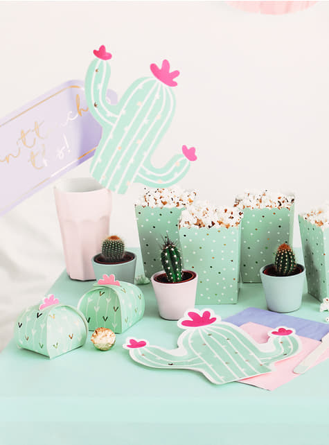 10 scatole a forma di cactus - Lama Party - originale