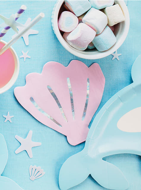 20 Seashell Cocktail Napkins (13 cm) - for parties