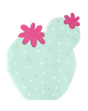 20 servilletas de cóctel de cactus (11 cm)
