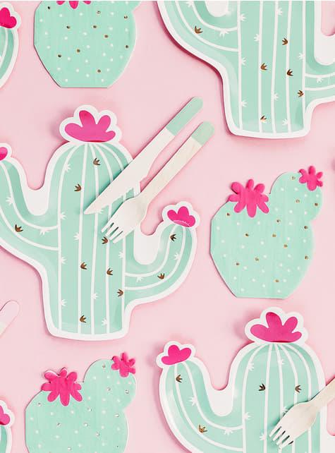20 koktejlových ubrousků kaktus (11 cm)