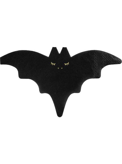 20 servilletas de cóctel de murciélago (16 cm)