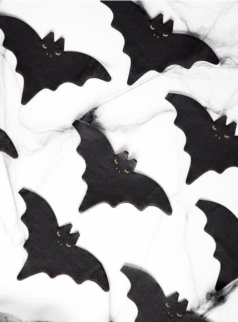 20 koktejlových ubrousků netopýr (16 cm)