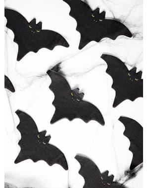 20 tovaglioli da cocktail a forma di pipistrello (16 cm)