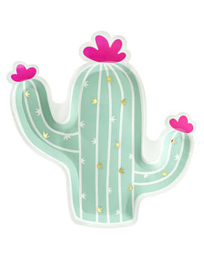 6 assiettes cactus (23 cm) - lama Party