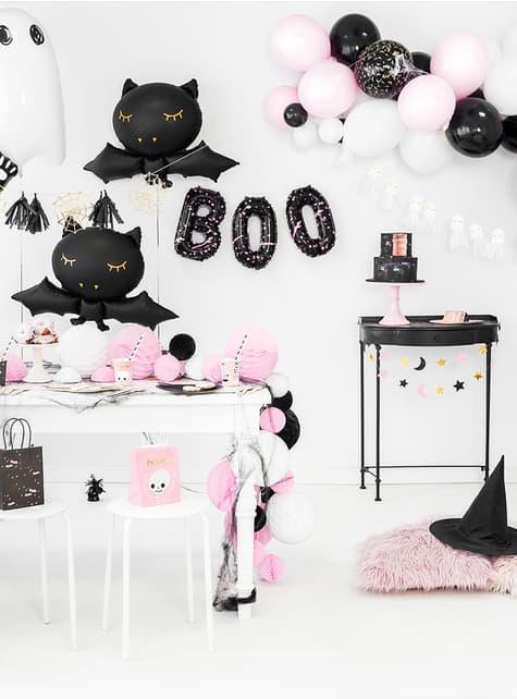 6 Zwarte kat borden (22 cm) - goedkoop
