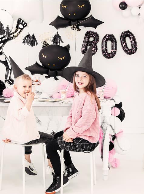 3 balões pretos de Halloween - Boo!