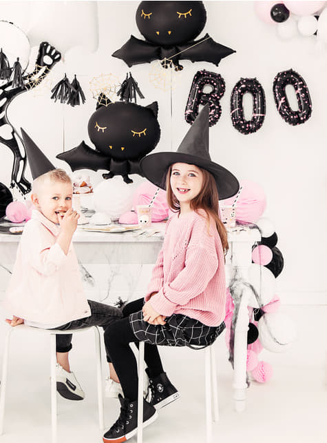 3 Halloween balloons in black - Boo! - buy